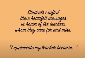 Teacher Appreciation Week From a Distance