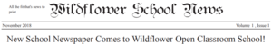 Wildflower School Newspaper