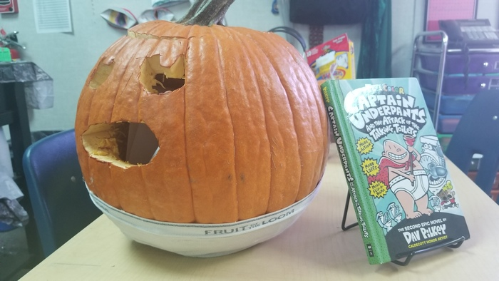 Captain Underpants Pumpkin
