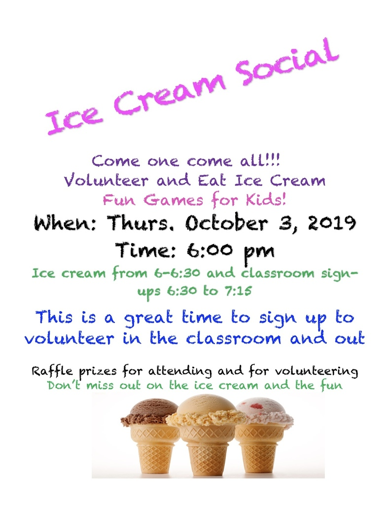Ice Cream Social Flyer 2019