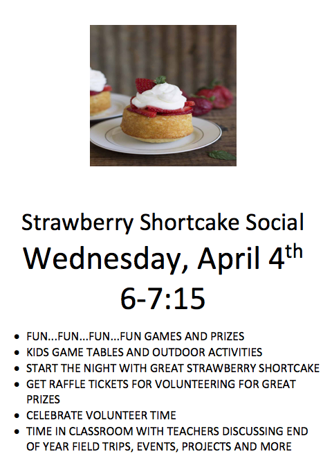 Strawberry Shortcake Social Flyer